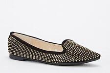 Shumaxx  Fringed Slip On Flats  SHOES UK Size 7 EU 40 BLACK