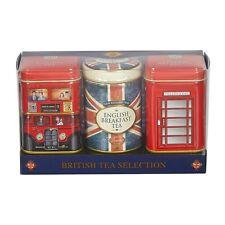 British Icons Loose Leaf Tea Selection Gift Box - 3 x Mini Tins