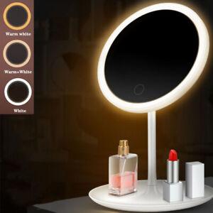 Foldable LED Mirror Illuminated Make Up MAGNIFYING MIRROR Vanity Light Stand USB