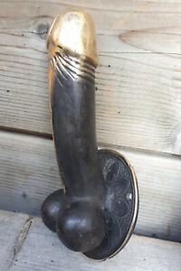 15cm metall bronze figur statue penis Garderoben Kleider Haken WC Ketten