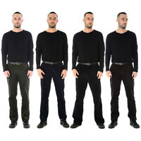 NEW MENS CORD CORDUROY TROUSERS COTTON FORMAL CASUAL BIG PLUS BELT POCKET PANTS