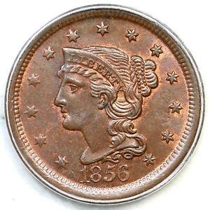 1856 N-13 R-2 PCGS MS 63 BN Braided Hair Large Cent Coin 1c