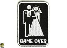 Game Over Marriage Iron On Patch - 2x3 inch Iron On Patch Free Shipping P2405