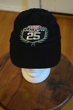 Castrol John Force Racing Hat Cap Celebrating 25 Years Black Cotton Embroidered