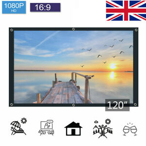 120 Inch 16:9 Front &Back Rear Projection Screen Curtain Film for All Projector