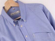 nv494 Ben Sherman Camisa Top Azul Vintage Original Premium Talla L