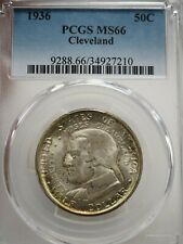 1936 Cleveland 50C PCGS MS 66 Early Silver Commemorative Half Dollar # 7210