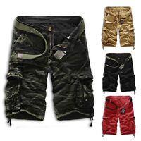 New Men Army Camouflage Short Pants Cargo Military Combat Shorts Beach Casual