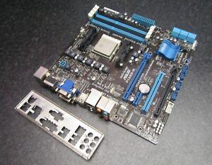 ASUS F1A55-M Socket FM1 DDR3 VGA DVI HDMI USB3 Motherboard, Backplate and CPU