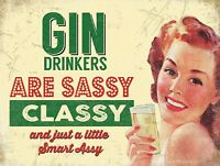 Novelty GIN Sign Gift for Her Women Birthday Funny Present Valentines Girlfriend