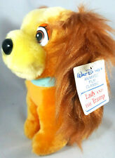 Lady and the Tramp Walt Disney Stuffed Lady Plush With Vintage Tags Toy 6.5inch