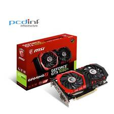 MSI Geforce GTX 1050Ti GAMING X 4G D5 HDMI Display Ports DVI-D PCIex GAMING Card