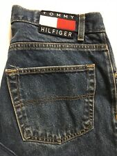 Vtg Tommy Hilfiger Freedom Jeans Mens 32x29 Big Flag Distressed Straight Leg USA