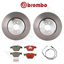 2 Front Disc Brake Rotors Ceramic Pads Sensor Brembo kit For BMW F10 640i 535d