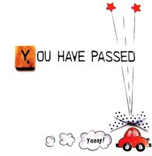 Passed Driving Test Bexyboo Scrabbley Neon Card Handmade Greeting Cards