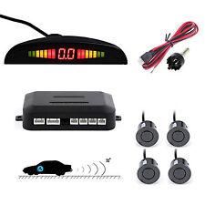 Auto Car Reverse Backup Parking 4 Sensors Sound  Alarm System Radar Sensor Gray