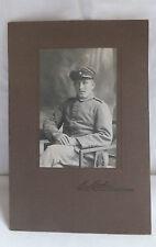 Militaria Cabinet Foto Uniform Soldat um 1900 Grafenwöhr
