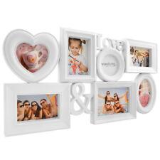 Bildergalerie Bilderrahmen LOVE für 7 Bilder in 3D Optik mit Herz in Weiß P-329