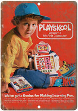 """Playskool Alphie II My First Computer Ad 10""""X7"""" Reproduction Metal Sign ZD08"""
