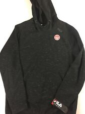 Fila Sport Fleece 2.0 Hoodie Mens Large Black Iron Twist Warm Light Pullover