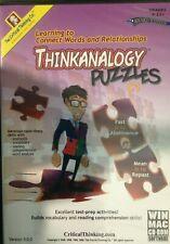 Thinkanalogy Puzzles C1, CD-ROM, Grades 9-12, Windows/MAC, Critical Thinking Co.