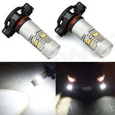 JDM ASTAR 2x 5202 5201 SMD LED Bulbs Projector Lens or Fog Lights Xenon White US