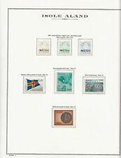 ALAND ISLANDS - ISOLE ALAND: COLLEZIONE COMPLETA 1984-2008 SU FOGLI MARINI KING