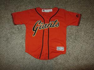 San Francisco Giants MLB Baseball Jersey Youth Kids Toddler Majestic 3T Baby