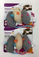 SmartyKat Skitter Critters Catnip Mice Cat Toys, 2 Packs of 3 Mice, 6 Total