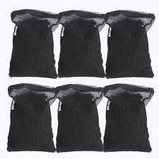 Activated Charcoal Carbon in 6 Mesh Bags for Aquarium Pond Canister Filter 6 LBS