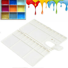 25 Grids White Plastic Large Art Paint Tray Artist Oil Watercolor Palette New