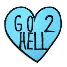 Go 2 Hell Heart Feminist Iron On Patch Embroidered feminism riot grrrl