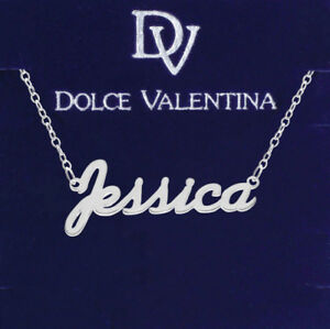 925 Sterling Silver JESSICA Name Necklace Womens Pendant Gift Ready Stock
