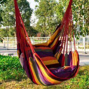 Hammock Chair Hanging Swing Chair Seat Garden Indoor Outdoor Portable Camping