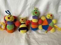 Mothercare Baby Pram Cot Stroller Crib Hanging Rattle Colourful Soft Toys