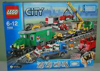 LEGO City treno merci 7898 | Cargo Train Deluxe completo | perfetto con scatola