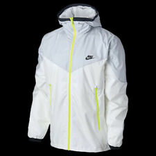 Rare Vintage Nike Windrunner Windbreaker Jacket White Yellow Nylon Soft Glanz Md