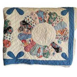 VERY OLD 1800's HAND MADE QUILT IN GREAT CONDITION