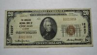 $20 1929 Chicago Illinois IL National Currency Bank Note Bill Ch. #12227 VF!