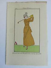 Journal Dames Modes n° 9, pl. 16 Boutet de Monvel 1912 complet joueuse de golf