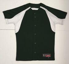 Under Armour Baseball Shirt, Jersey, Dark Green with White, M