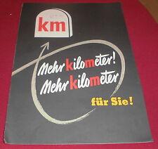 dachbodenfund alt prospekt faltblatt dunlop km 1/2 reifen werbung reklame  1954