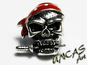 Skull Pirat Totenkopf Metall Beads Perle Bandana Dolch für Paracord Lanyard