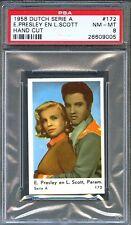 1958 Dutch Serie A Card #172 ELVIS PRESLEY Loving You LIZABETH SCOTT PSA 8 Pop 1