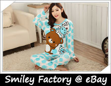 Long Sleeve 1set Rilakkuma San-X Lounge Pant Sleep Pajama Sleepware Clothing B1
