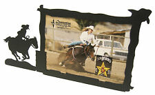 "Barrel Racer Going In Racing Rodeo Horse Picture Frame 5""x7"" H"