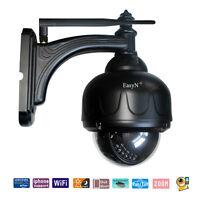 IR Outdoor Weatherproof CCTV Night Security PTZ IP Camera System Pan/Tilt Audio
