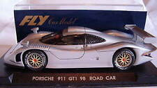 qq E 71  FLY PORSCHE 911 GT1 98 GRIS GREY ROAD CAR MINIAUTO MAGAZINE LTED ED E71