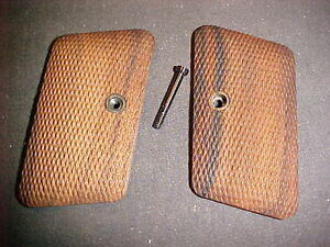 Colt 1908 .25 Hammerless English Walnut Checkered Pistol Grips Beautiful NEW