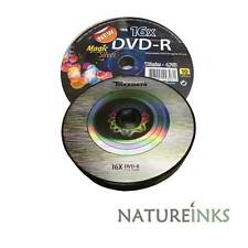 10 Traxdata De marque Magie Argent DVD-R 16x disques vierges 4.7 GB Ritek F01